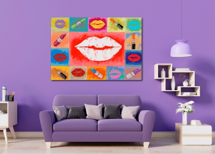 Cuadro labios (b84)