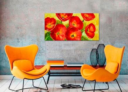 Cuadro flores rojas (bb4001)