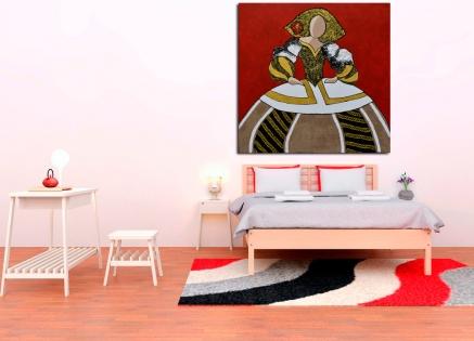 Cuadro Menina fondo rojo (bci1046)