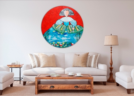Cuadro Menina Monet redondo (bci1052-rd)