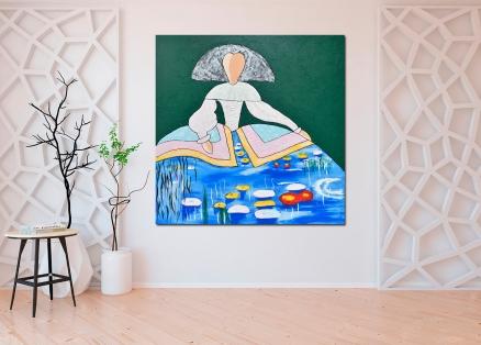 Cuadro Menina Monet (bci1053)