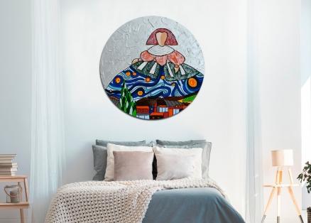 Cuadro Menina Van Gogh redondo (bci1054-rd)
