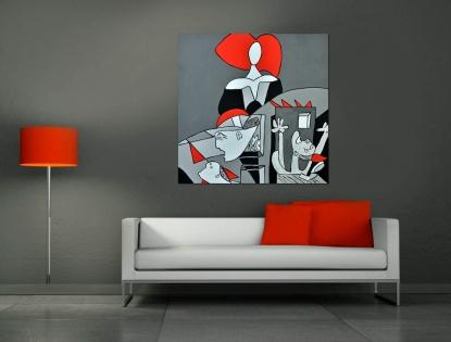 Cuadro Menina Picasso (bci1058)