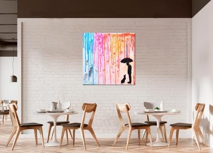 Cuadro lluvia de colores 1 (bci1125)