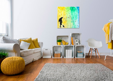 Cuadro lluvia de colores 2 (bci1126)
