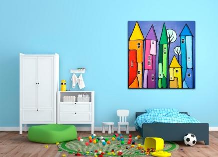 Cuadro torres de color (bci1181)