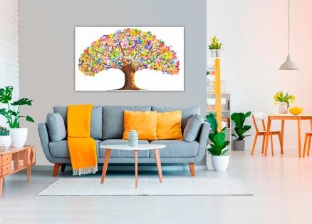 Cuadro arbol con flores (bci1210)