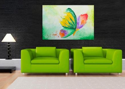 Cuadro Mariposa verde (bci1216)