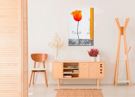 Cuadro flor naranja (bci1304)