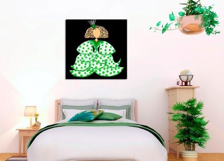 Cuadro Menina flamenca verde (bci1305)