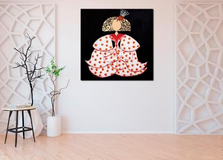 Cuadro Menina flamenca roja (bci1306)