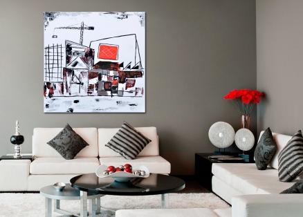 Cuadro abstracto urbano (bci131)