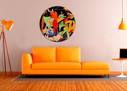 Cuadro Guernica colores redondo 1 (bci200-1-rd)