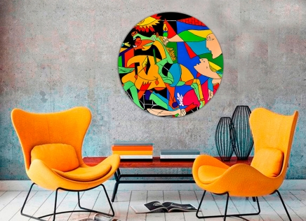 Cuadro Guernica colores redondo 3 (bci200-3-rd)