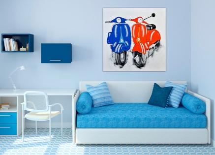 Cuadro pareja de motos (bci2011)