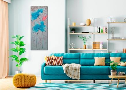 Cuadro flores azules (bci208)