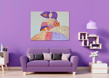 Cuadro Menina color (bci4018)