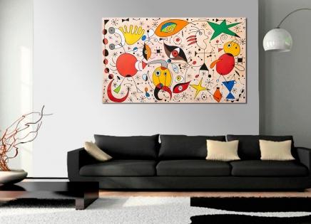 Cuadro abstracto siluetas (bci500)