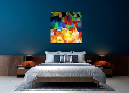Cuadro abstracto colores (bci5002)