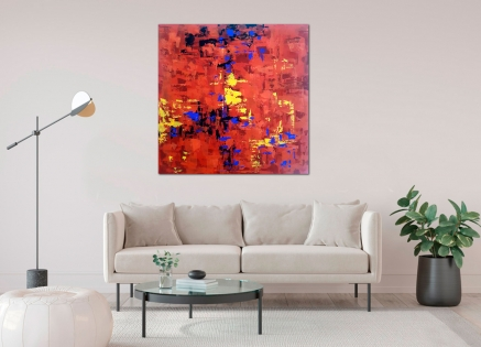 Cuadro abstracto en rojos (bci5006)