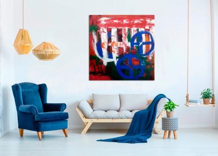 cuadro abstracto juvenil (bci5007)