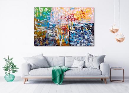 Cuadro abstracto explosión de color (bci5009)