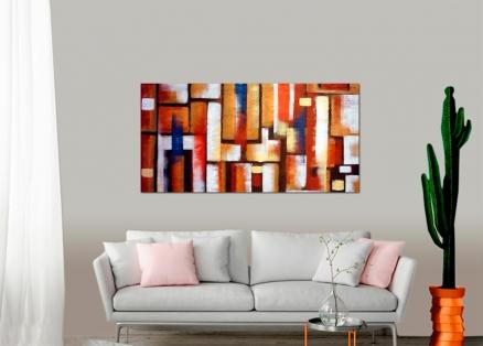 Cuadro abstracto de colores ( bdga015)