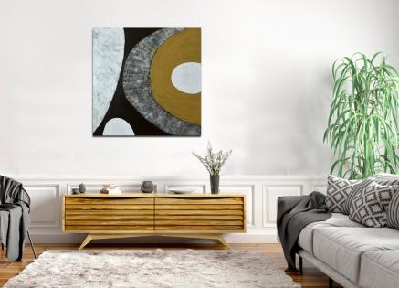 Cuadro abstracto ocres (bdga0510-1)