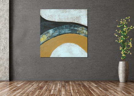 Cuadro abstracto ocres (bdga0510-3)