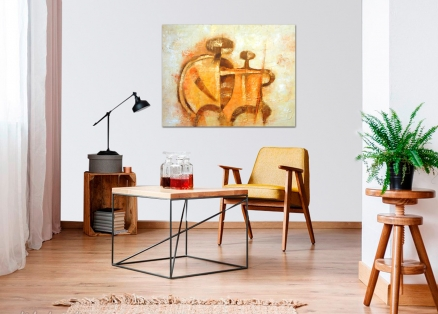 Cuadro abstracto siluetas (bdga086)
