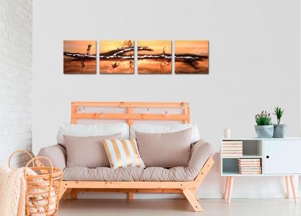 Cojunto cuatro cuadros abstractos (bdga114)