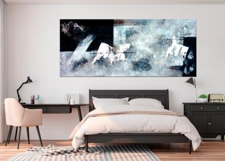 Cuadro abstracto blanco y negro (bdga171)
