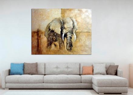 Cuadro elefante   (bdgf032)