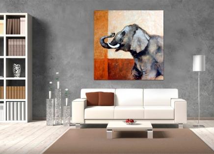 Cuadro elefante (bdgf036)