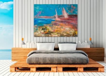 Cuadro barcas y veleros (bep4003)