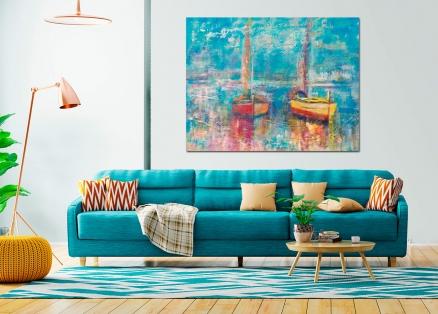 Cuadro barcos pintados (bep4058)