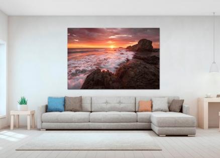 Cuadro paisaje marino rocoso (bept1005)