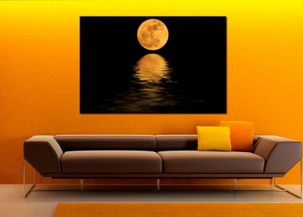 Cuadro reflejo de la luna en el mar (bfl126996751)