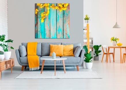 Cuadro flores amarillas (bfl132566937)