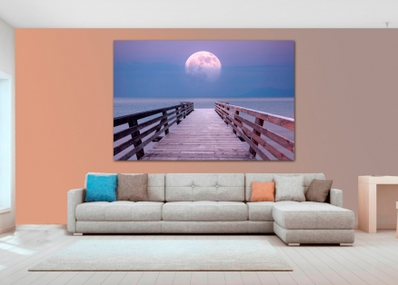 Cuadro luna sobre el mar (bfl151782811)