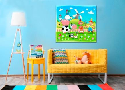 Cuadro infantil granja (bfl44495739)