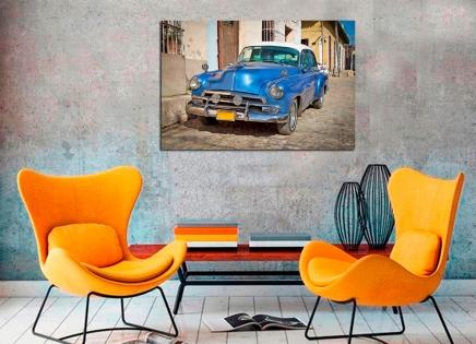 Cuadro coche azul (bfl46557588)