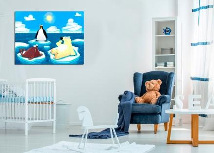 Cuadro infantil pinguino (bfl48028287)
