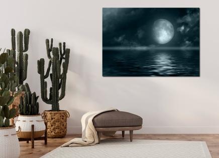 Cuadro luna y mar (bfl49341747)