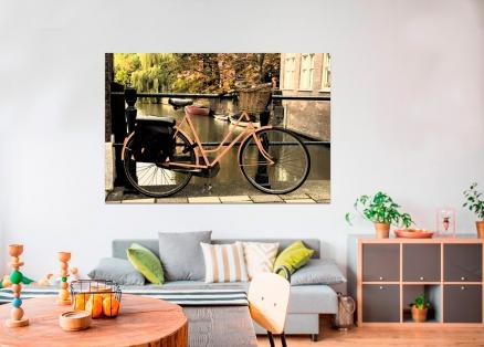 Cuadro bicicleta en puente (bgca0365)