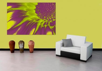 Cuadro flor amarilla digital (bgca0433)