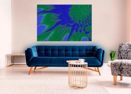 Cuadro flor azul digital (bgca0434)