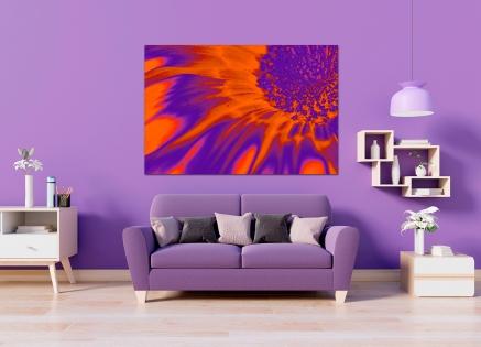 Cuadro flor naranja digital (bgca0435)