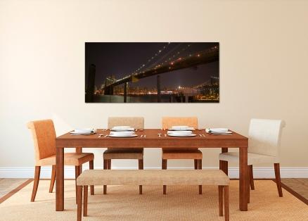 Cuadro puente de Brooklyn iluminado (bgca1471)
