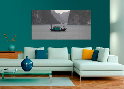 Cuadro barco en la naturaleza (bgca2713)